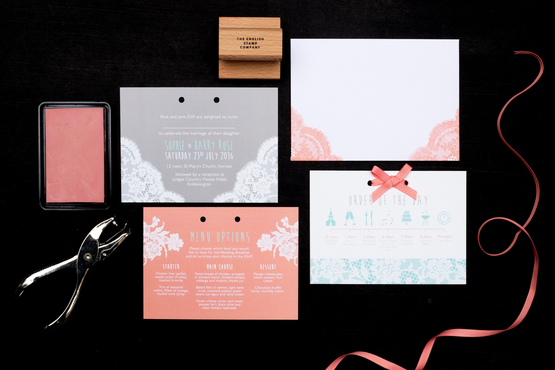 Modern Lace invitation 6