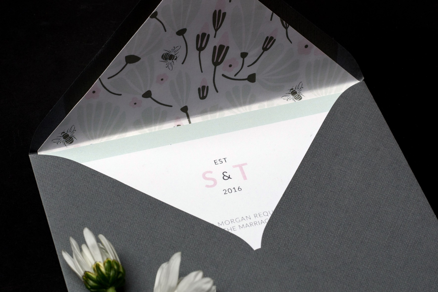 Flowers and Bees | An English Country Garden Wedding Stationery Suite