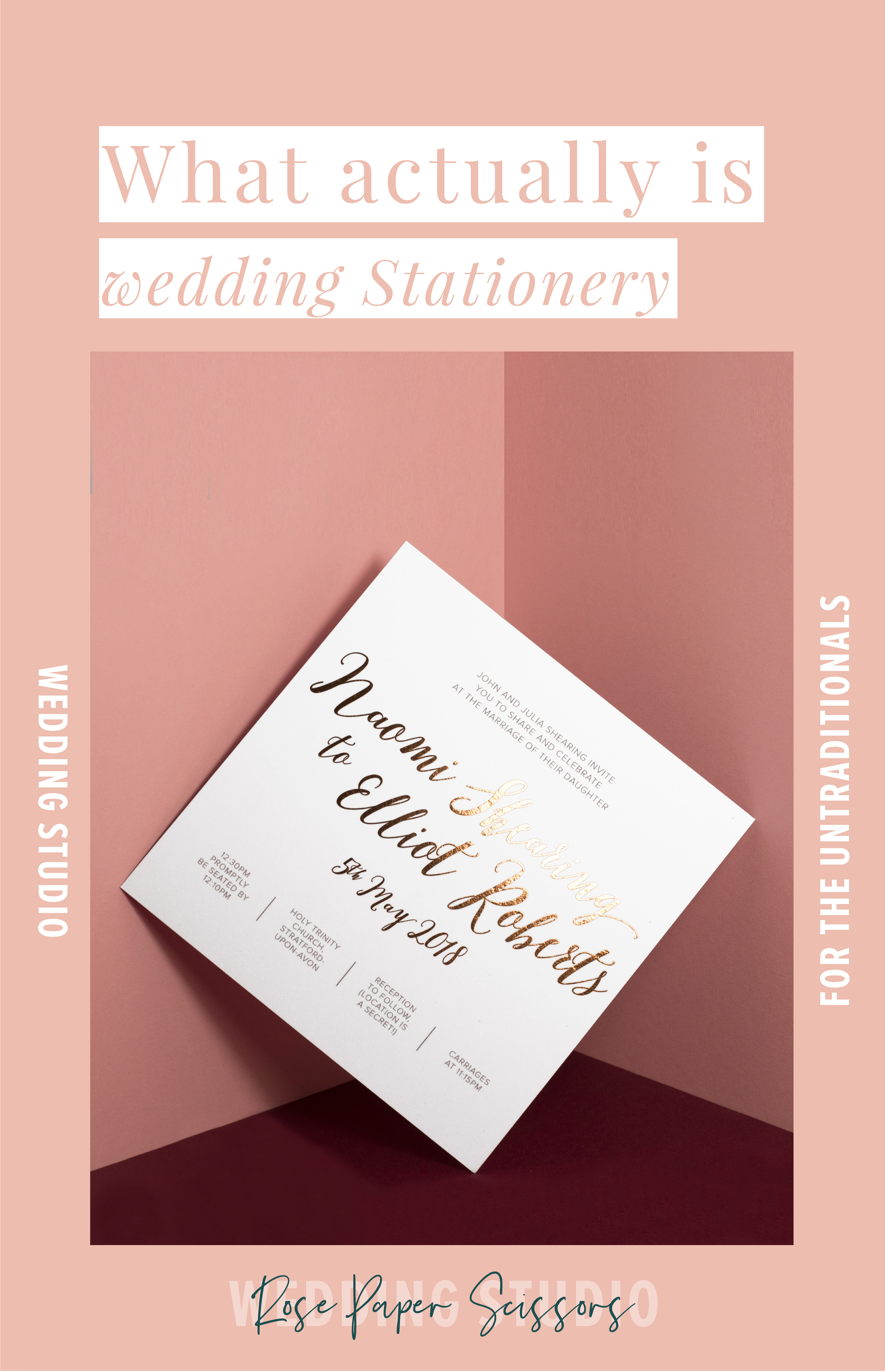 what is wedding stationery