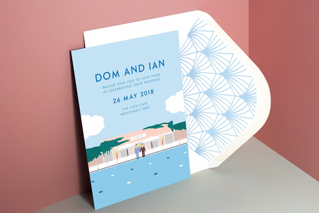 Bespoke wedding stationery design - London - Rose Paper Scissors