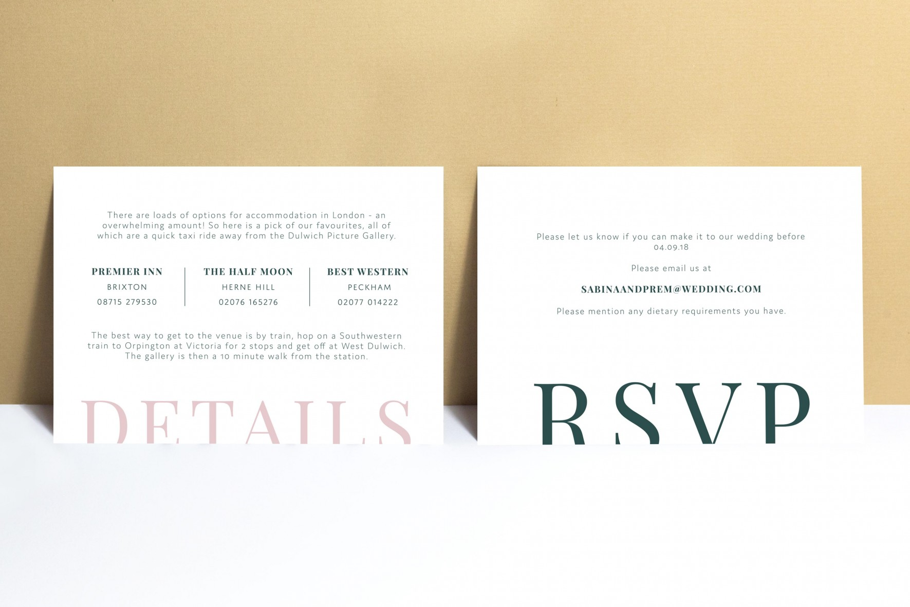 Modern simple wedding invitation RSVP card - wedding stationery by www.rosepaperscissors.com