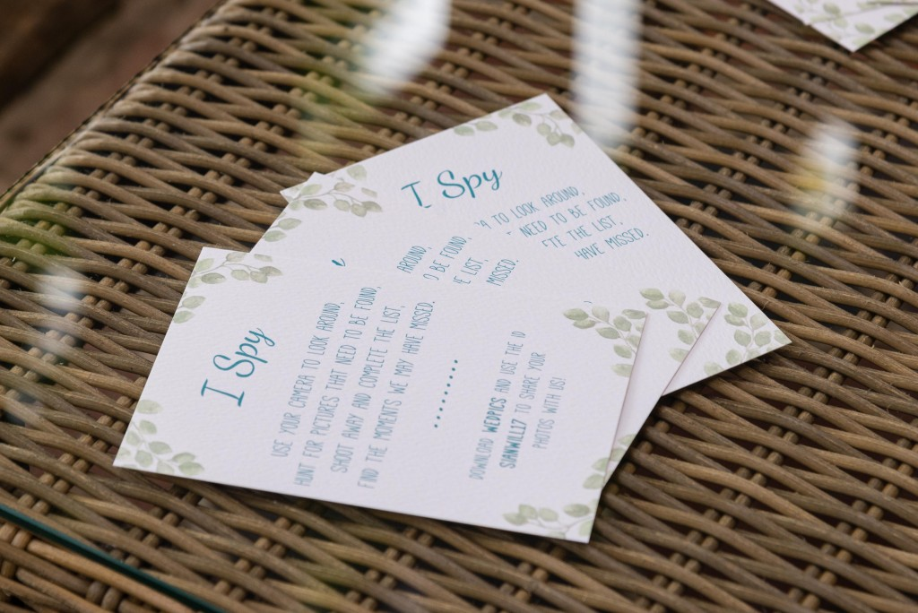 I spy game for wedding day cards