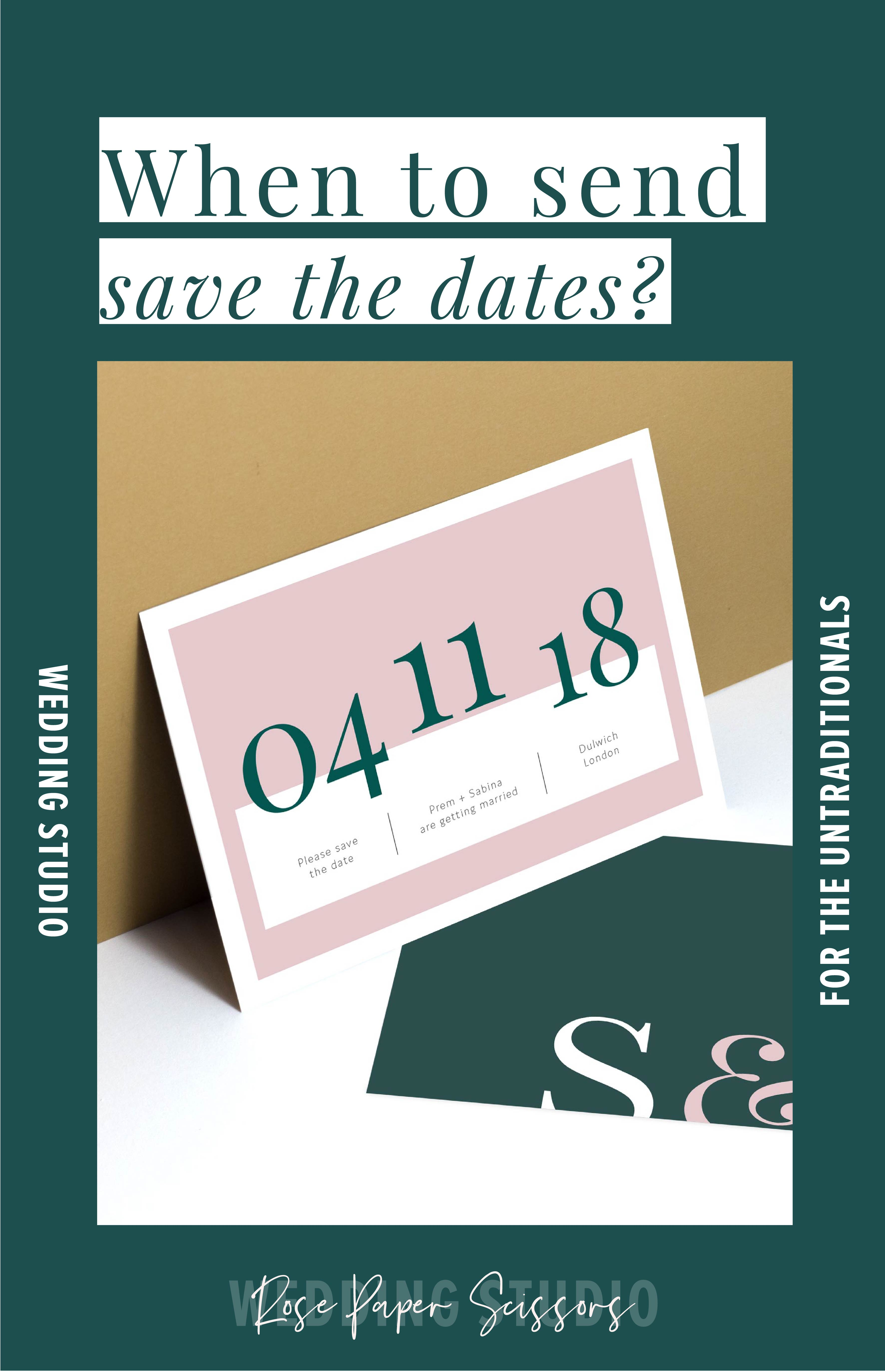 When to send out wedding save the dates