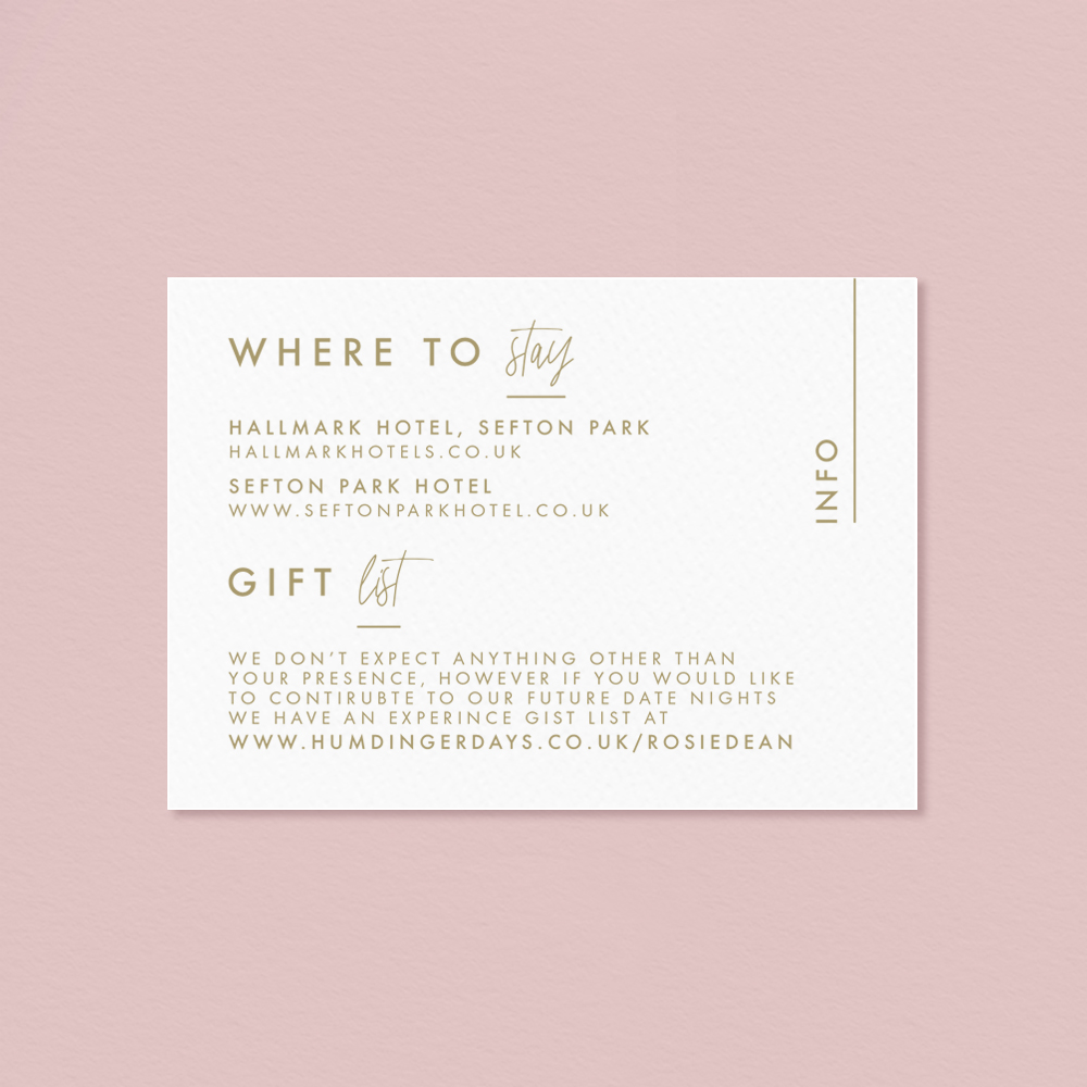 Letterpress Anthurium Flamingo flower Laceleaf modern Wedding invitation info card