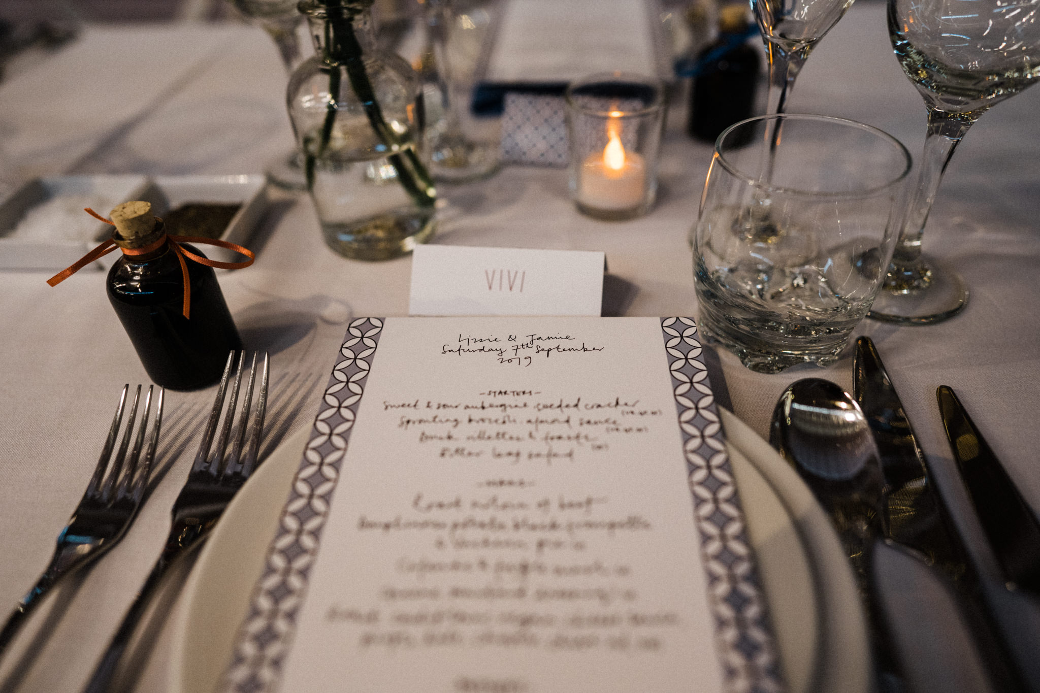 V&A Museum of Childhood Wedding East London on the day stationery menu